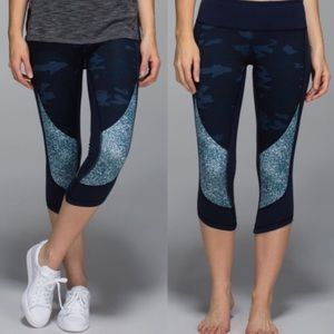 Lululemon winder under camo print crop leggings